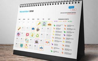 november social media calendar template